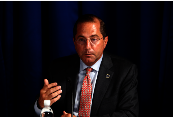 美國衛生部長阿查爾(Alex Azar)即將訪台。美聯社