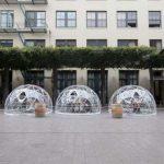金山餐館創「泡泡座」 安全隔離受歡迎