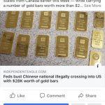 華女身懷黃金現金 美加邊境偷渡被捕 稱合法在加國讀書