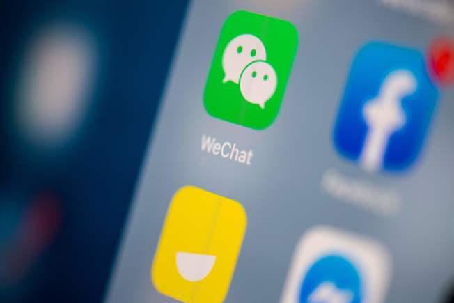 川普下令對在美使用微信設限,華社熱議。(Getty Images)
