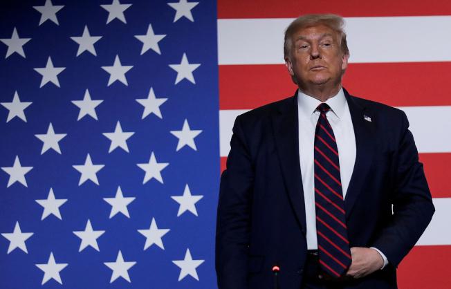 「經濟學人」預測,川普總統在大選的票數勝過白登的機率僅為2%,贏選舉人團票的機率只有一成。(路透)