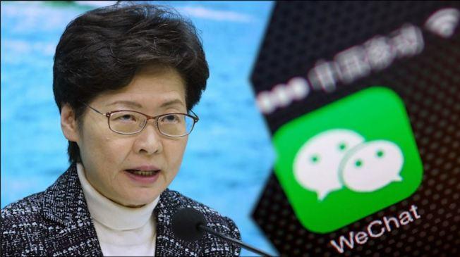 先禁微信,再寄出香港官員限制令,白宮最近組合拳出擊。(圖片:源自路透社、美聯社,本報後期製作)