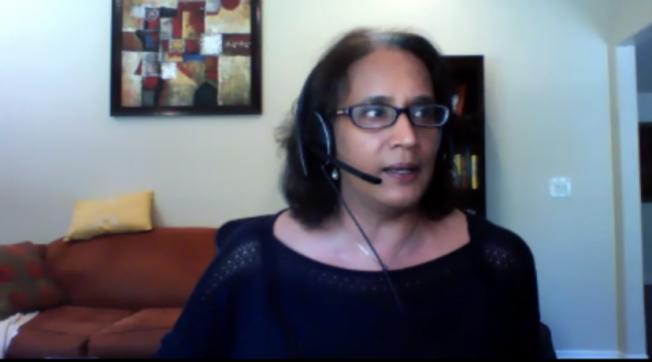 移民律師Kalpana Peddibhotla。(截圖自線上論壇)