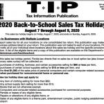 返校免稅周末 持續到8月9日截止