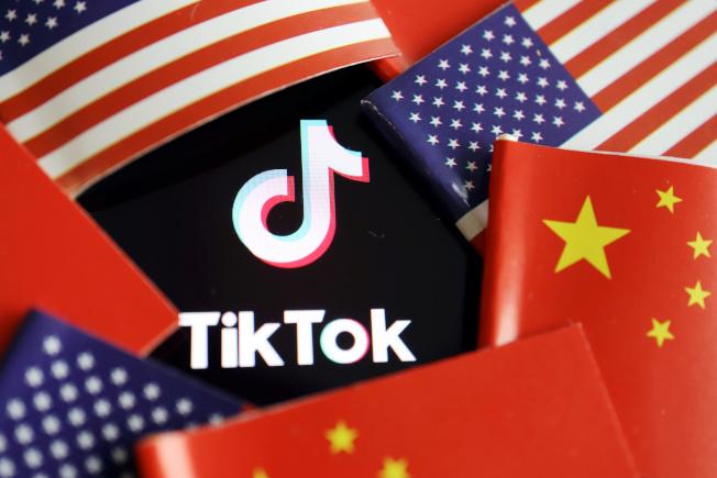 川普總統針對TikTok簽署行政命令,祭出交易禁令。(路透)