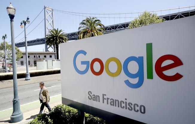 舊金山加大的專家說,Google的舊金山辦公室在3月時很早就要員工小心防疫,為舊金山防疫打下基礎。(Getty Images)
