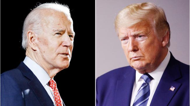 根據三份最新民調,民主黨準總統候選人白登的支持率在全國雖仍領先川普總統3%到6%,但兩人差距已縮小。(Getty Images)