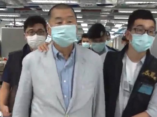 壹傳媒創辦人黎智英表示,不知道報社的前景,但無法擔心太多。(香港蘋果日報直播截圖)