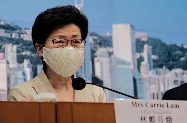 香港政府回應,全力支持中國對美方採取反制措施,並會全面配合執行。圖為香港特區行政長官林鄭月娥。中通社