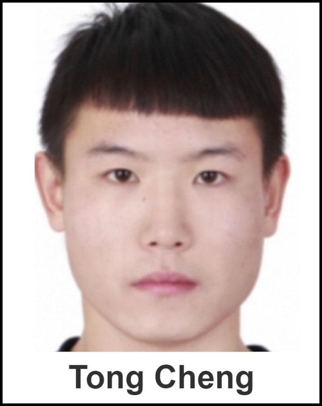 新州警方10日逮捕史蒂文斯理工學院畢業生、被害者室友成同(Tong Cheng)。(檢方提供)