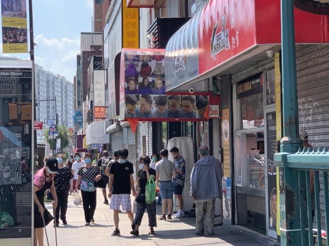 法拉盛商改區鼓勵商家申領免費口罩,避免二波疫情。(記者賴蕙榆/攝影)