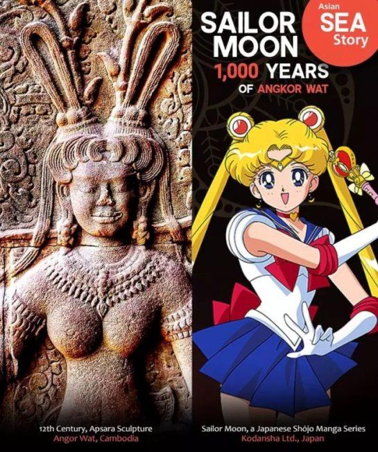 柬埔寨天女石雕 成了「美少女戰士」?