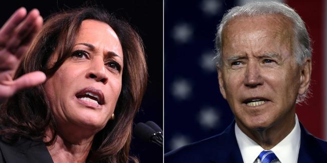 民主黨準總統候選人白登(Joe Biden,右)挑選加州聯邦參議員賀錦麗(Kamala Harris,左)為副手。Getty Images