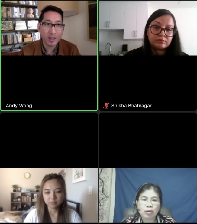 支持第16號提案的亞太裔(AAPI) 12日晚在線上探討該提案對亞太裔社區的好處。(截圖自線上會議)