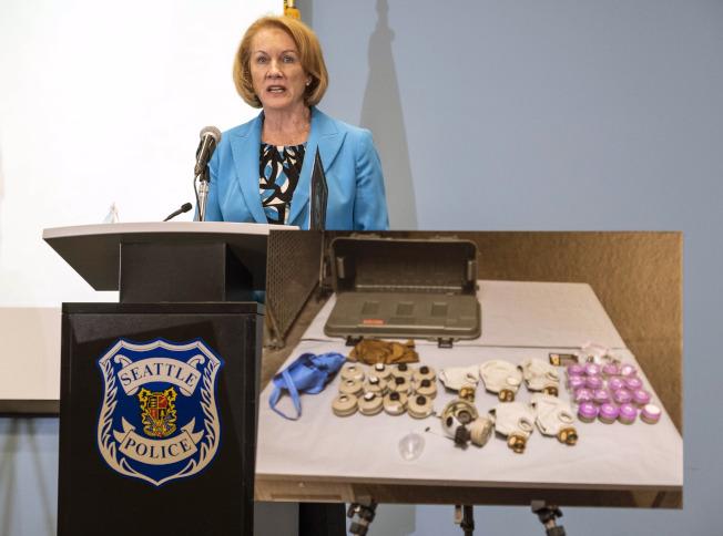 民主黨籍西雅圖市長珍妮‧鄧肯(Jenny Durkan)。(美聯社)