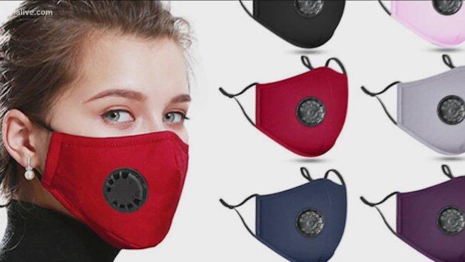 配有呼吸閥的口罩因會讓呼氣竄出,唾液可能隨之飛出,無法有效阻止新冠病毐傳播給他人,因此聯邦疾病防治中心也不建議民眾配戴。(取自推特)
