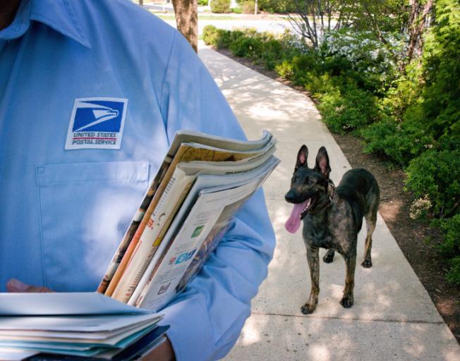 美國郵政的送信員。(巴沙迪那星報)