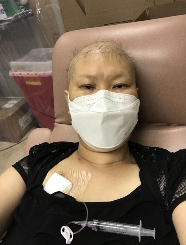 林雪利近期癌症復發,希望早日返鄉與家人團聚。(林雪利提供)