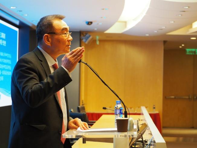 北京大學新結構經濟學研究院院長林毅夫。中新社