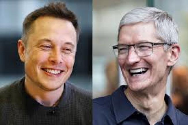 蘋果、Tesla股價飆 庫克、馬斯克誰是最佳CEO?