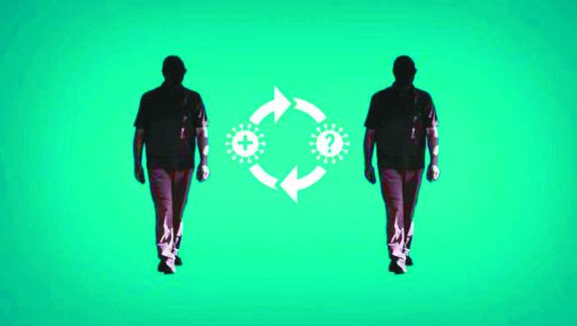 內華達州一名25歲男子,成為全美第一個已知的新冠病毒再度感染個案。實驗室檢測判定,該名男子每一次染疫的病毒株之間存在些微差異,表示確實為再度感染。(美聯社)
