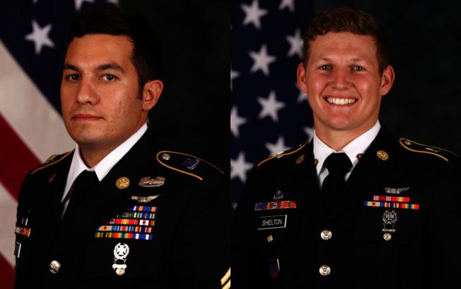 陸軍第160航空特戰隊一架UH-60黑鷹直升機,27日墜毀於聖克里門提島(San Clemente Island),兩名死亡士兵分別為Vincent Marketta(左)與Tyler Shelton(右)。(美國陸軍)