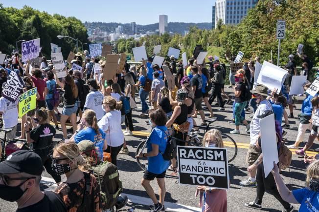 波特蘭的示威抗議活動已持續3個月。(Getty Images)