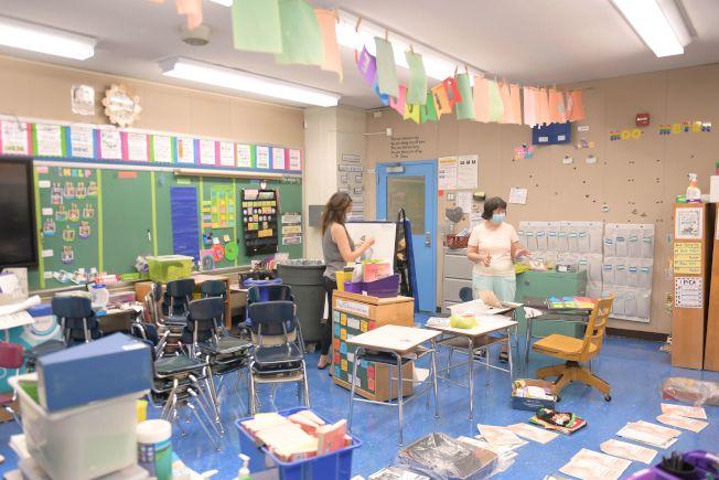 紐約市各公校在為迎接學生返校做準備。(Getty Images)