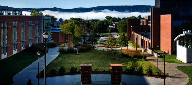 SUNY安利安他分校百餘人新冠檢測呈陽性而關閉校園。(取自學校官網)