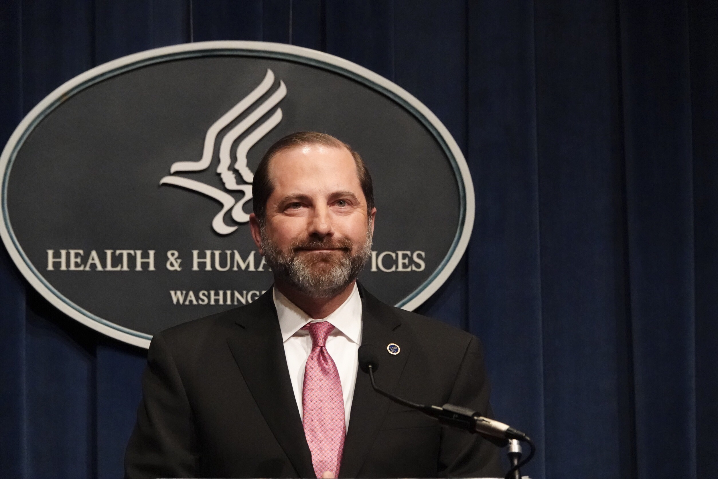 美國衛生部長阿查爾。 華盛頓記者張文馨/攝影