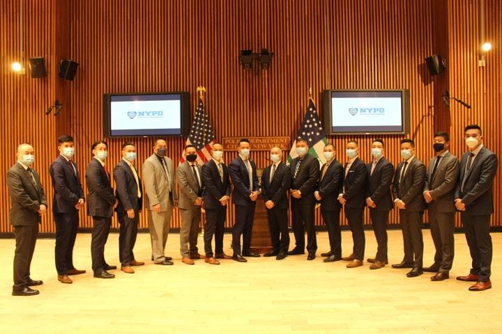 紐約市警成立「亞裔仇恨犯罪工作組」,25名亞裔警員強打仇恨犯罪。(記者張晨/攝影)