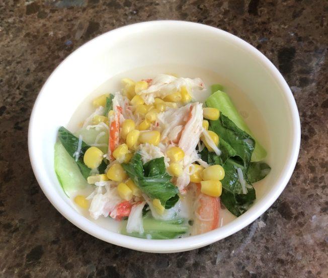 椰奶玉米蟹肉白菜