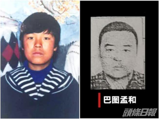 受害人(左)、內蒙古男子巴圖孟和(右)。(取材自頭條日報)