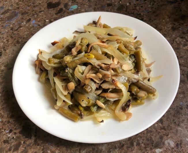 蠔菇烤四季豆