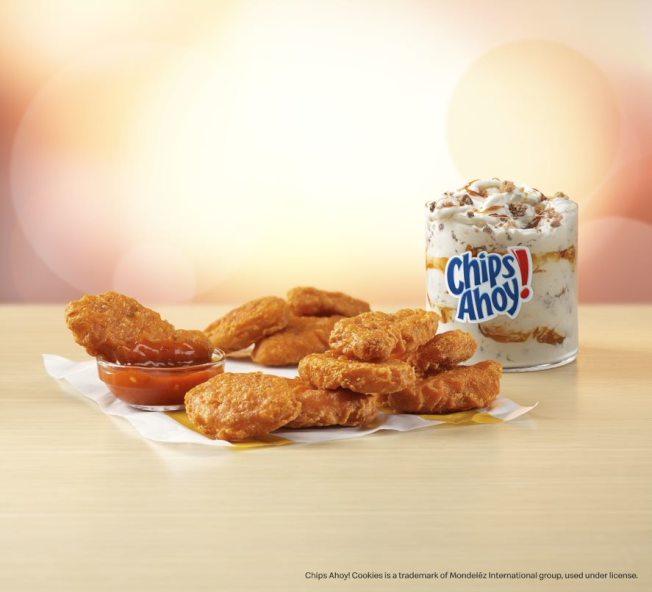 麥當勞經典美食添創意九月推出辣味麥樂雞塊加Mighty辣醬和Chips Ahoy!McFlurry。
