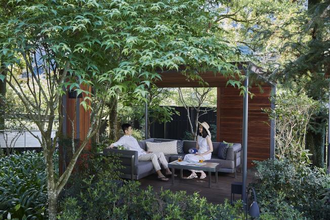 享受虹夕諾雅谷關的最好方法就是在發呆亭閒坐。(圖:星野集團提供)