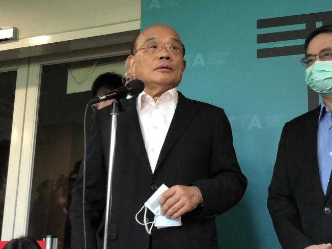 圖為行政院長蘇貞昌。(記者賴于榛/攝影)