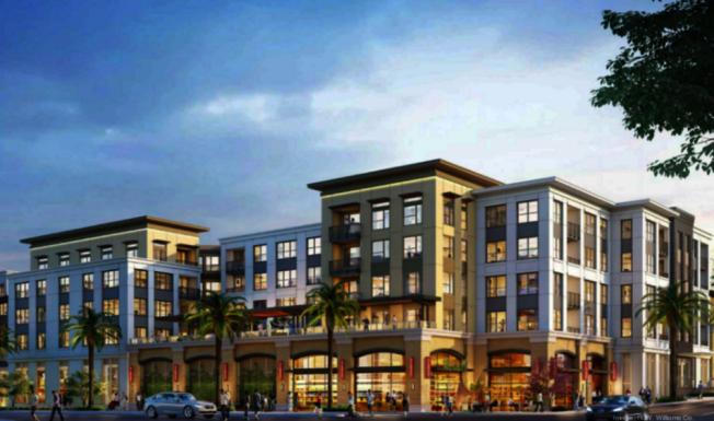 新開發的427個住房單位的建案Mills Park Center。(開發商設計圖)